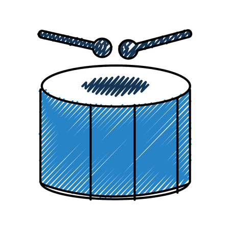 carnival drum instrument icon vector illustration design Иллюстрация