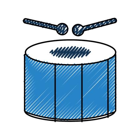carnival drum instrument icon vector illustration design Illustration