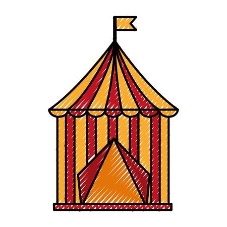 서커스 텐트 격리 아이콘 벡터 일러스트 디자인 스톡 콘텐츠 - 98468638