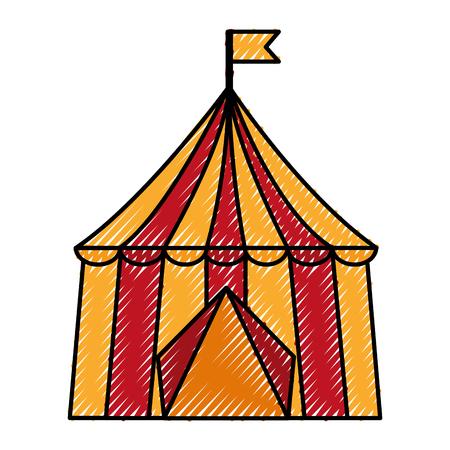 서커스 텐트 격리 아이콘 벡터 일러스트 디자인 스톡 콘텐츠 - 98516817