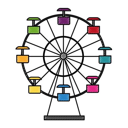 panoramic wheel isolated icon vector illustration design Stock Illustratie