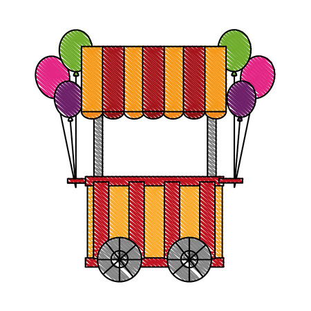 circus pumps air shop vector illustration design Ilustrace