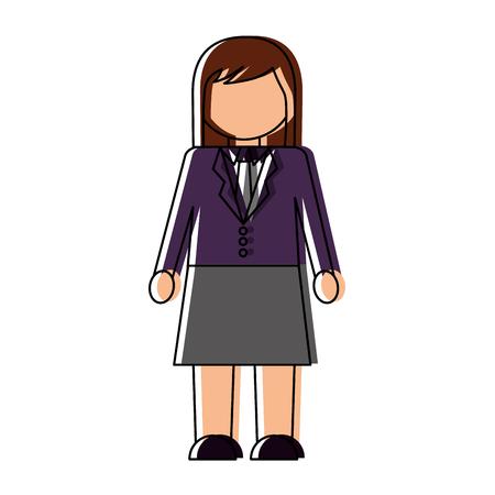 Businesswoman elegant avatar character vector illustration design.