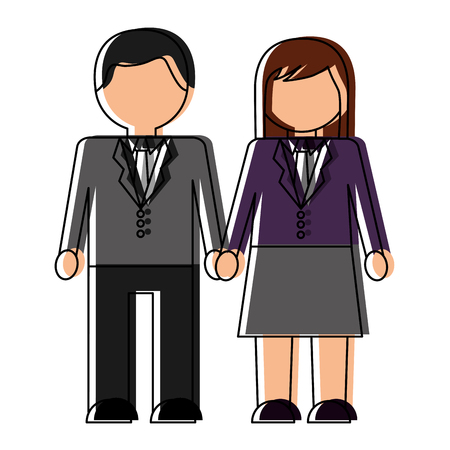 Business couple avatars characters vector illustration design Stock Vector - 98469223