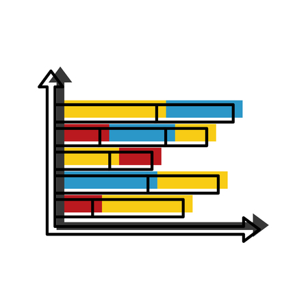 Statistics infographic with bars vector illustration design.