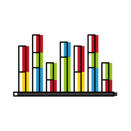 Statistics infographic with bars vector illustration design 向量圖像