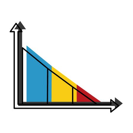 Statistics infographic with bars vector illustration design Illustration