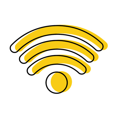 Wifi signal isolated icon vector illustration design 向量圖像