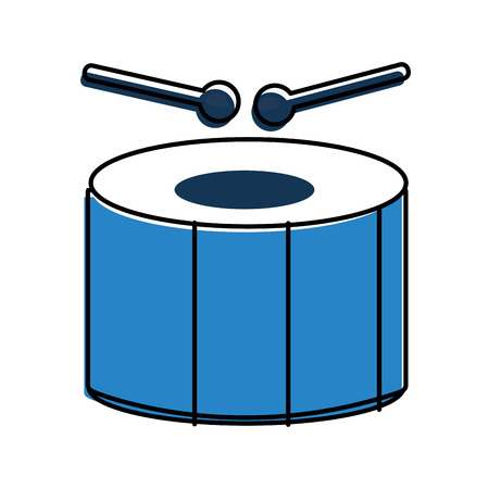 Carnival drum instrument icon vector illustration design.