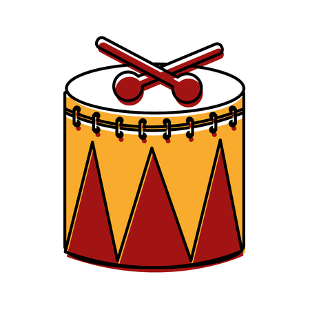Carnival drum instrument icon vector illustration design