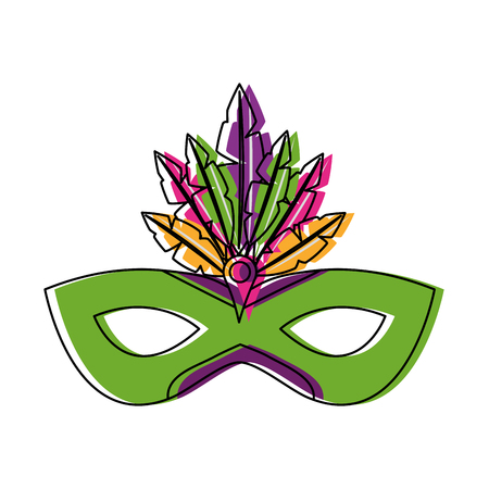 Carnival mask isolated icon vector illustration design.