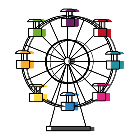 Panoramic ferris wheel isolated icon vector illustration design