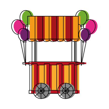 circus pumps air shop vector illustration design Illustration