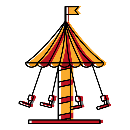 carousel carnival isolated icon vector illustration design
