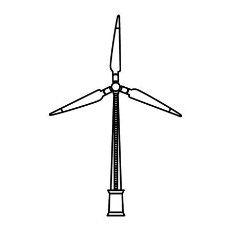 Energy renewable turbine wind power vector illustration. Ilustração