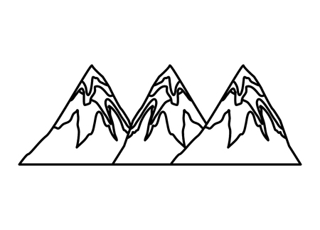 peaks mountains snowy land image vector illustration