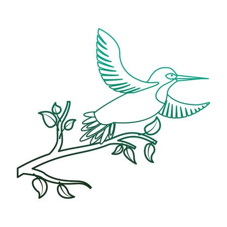 Oiseaux oiseaux ouverts oiseaux dans la branche d & # 39 ; arbre vecteur de couleur. couleur de style de contraste Banque d'images - 98513003