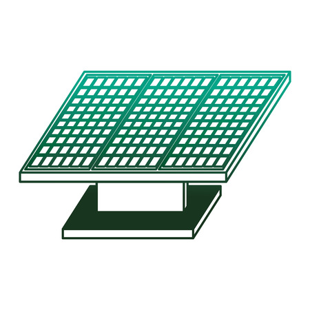 Energy clean solar panel sustainable resources vector illustration degraded color green Illustration