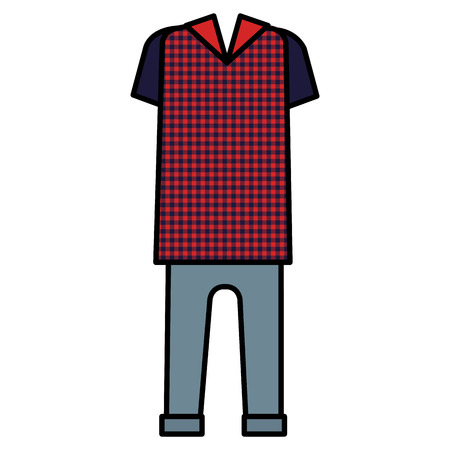 Classic hipster style clothes vector illustration design Illustration
