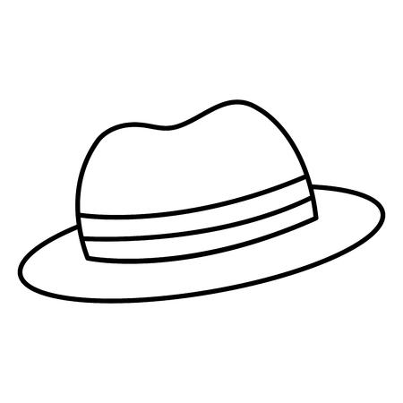hat hipster style icon vector illustration design Ilustração