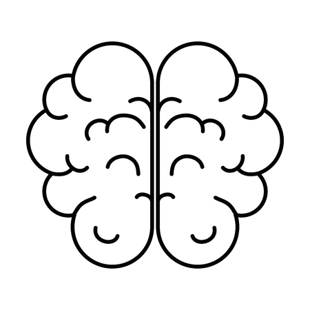 Brain human organ icon vector illustration design 版權商用圖片 - 98530712