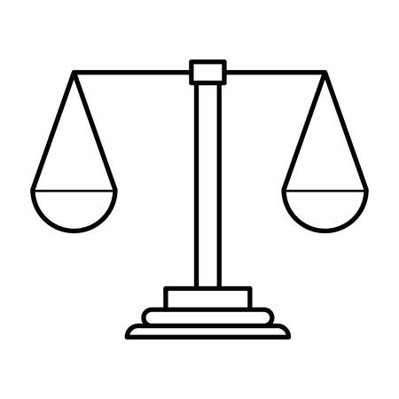Waage Gerechtigkeit Symbol Vektor-Illustration Design Standard-Bild - 98530710