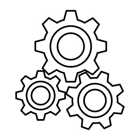 Diseño aislado del ejemplo del vector del icono de la máquina de engranajes Foto de archivo - 98530715