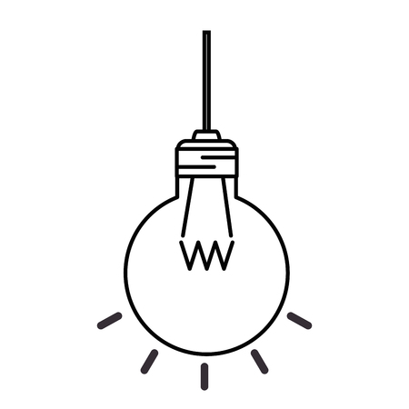 Hanging light bulb icon vector illustration design
