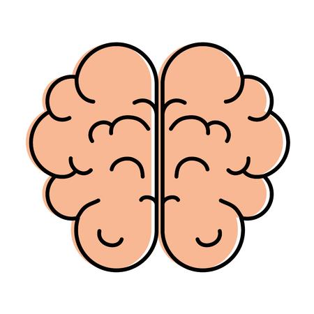 脳人間器官アイコンベクトルイラストデザイン