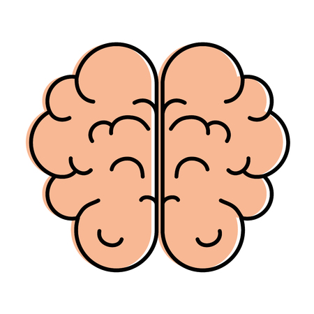 Brain human organ icon vector illustration design Ilustracja
