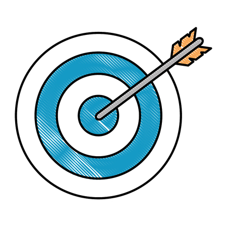 Target arrow isolated icon vector illustration design