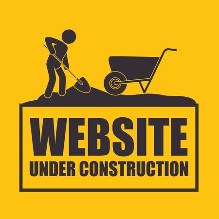 Under construction design, vector illustration Ilustrace