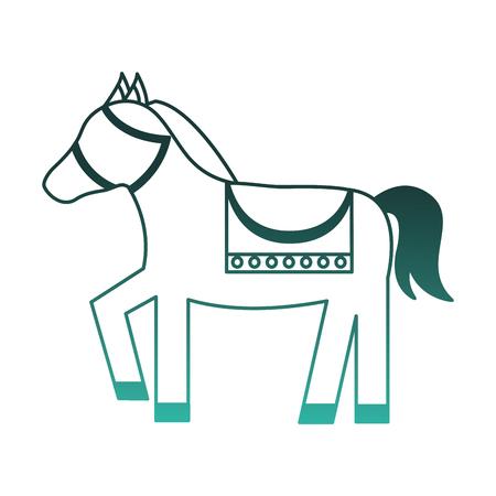 Leuk vector de illustratieontwerp van het paard dierlijk pictogram.