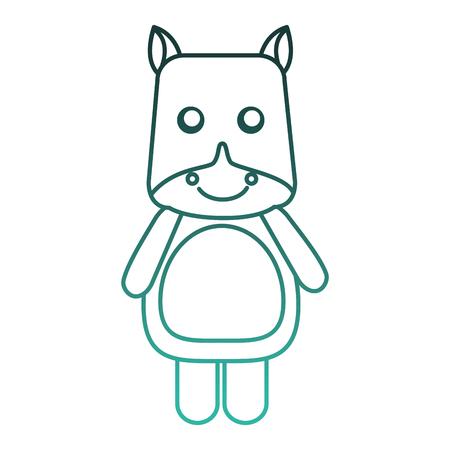 Cute hippo animal icon vector illustration design. Ilustracja