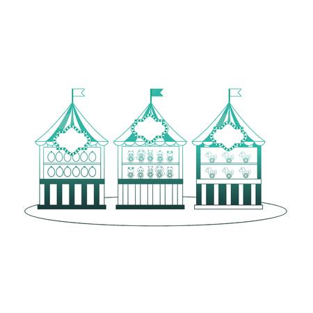 フェアターゲット撮影ベクトルイラストデザインのグループキオスク  イラスト・ベクター素材
