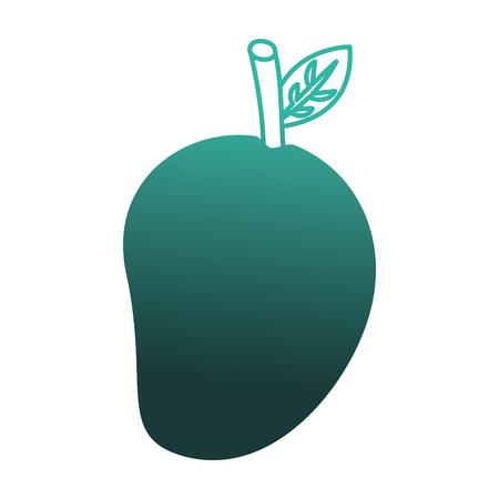 新鮮なマンゴーフルーツ健康的な食品ベクターイラストデザイン