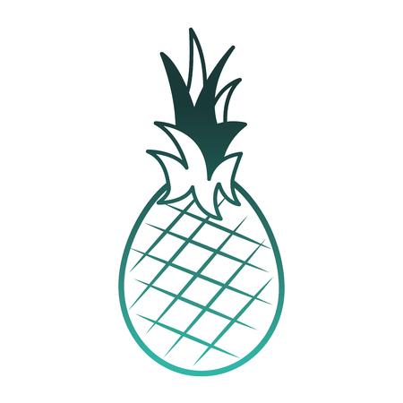 新鮮なパイナップルフルーツ健康的な食品ベクターデザイン