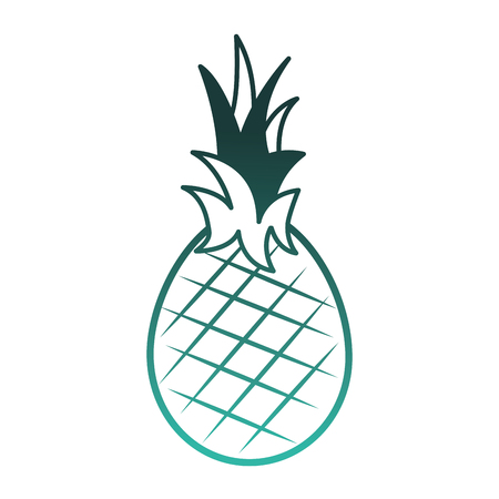 fresh pineapple fruit healthy food vector illustration design