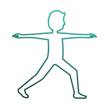 man doing exercise silhouette vector illustration design Archivio Fotografico - 98556597