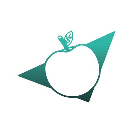 fresh apple fruit in napkin vector illustration design