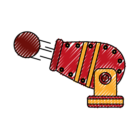 circus cannon entertainment icon vector illustration design