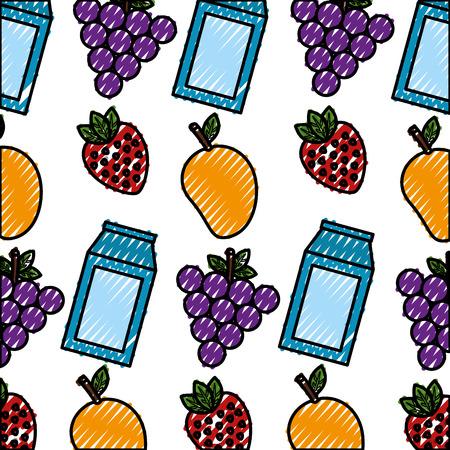 healthy food pattern background vector illustration design
