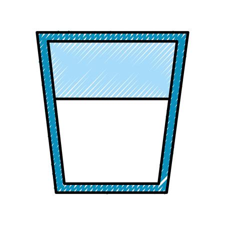 milk glass isolated icon vector illustration design