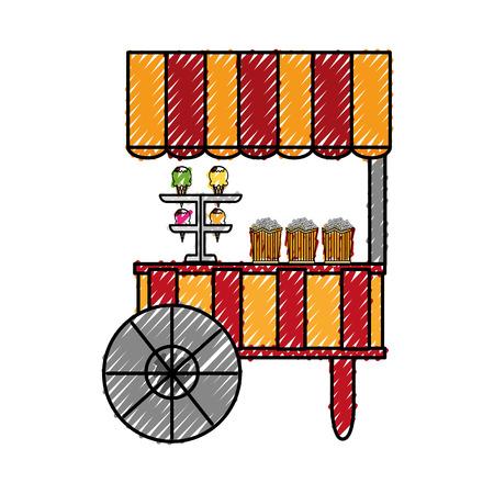 circus ice cream shop vector illustration design