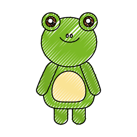 cute toad animal icon vector illustration design 向量圖像