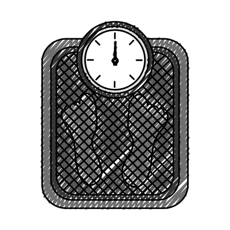 スケールウェイト測定アイコンベクトルイラスト設計
