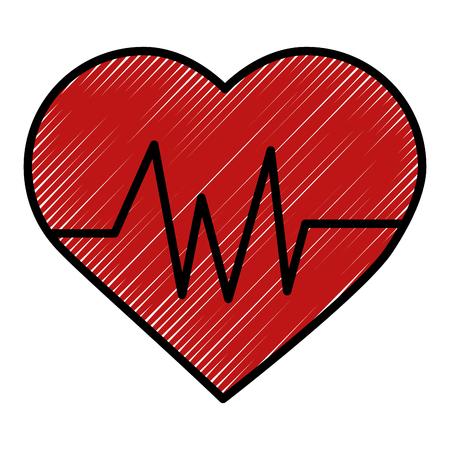 Coeur cardio isolé icône du design illustration vectorielle Banque d'images - 98574636
