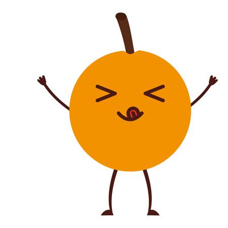 fresh passion fruit healthy food character vector illustration design Illustration