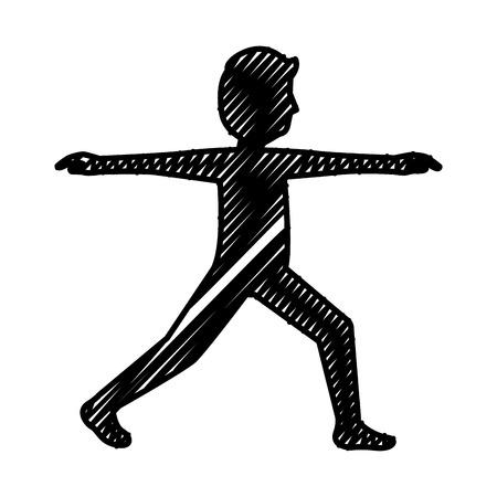 man doing exercise silhouette vector illustration design