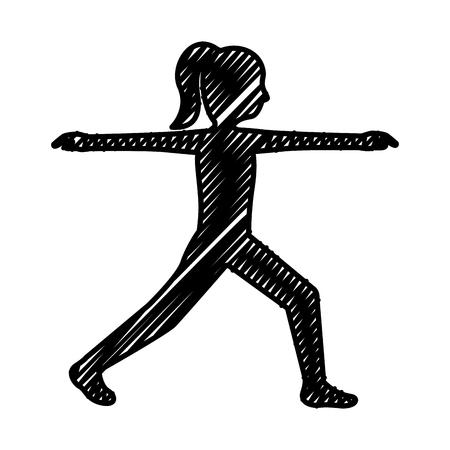 woman doing exercise silhouette vector illustration design